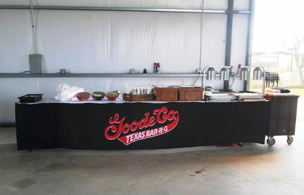 Barbeque catering set up